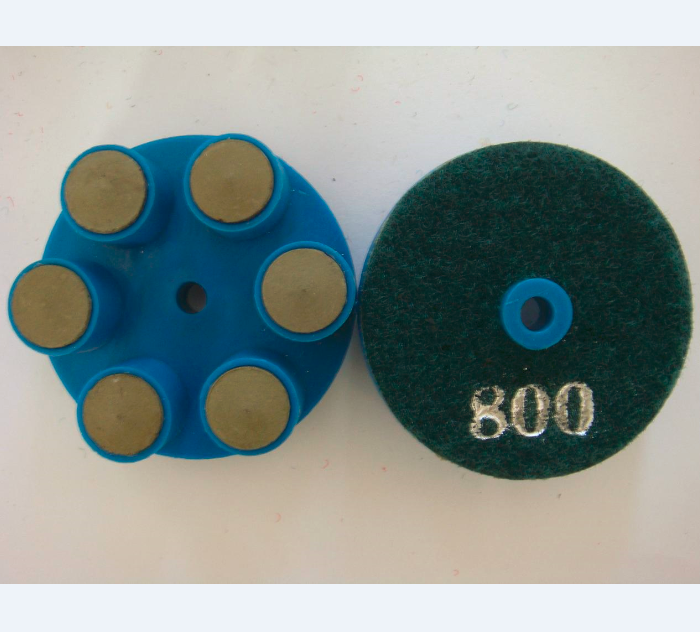 6 Post Resin Bond Pad with Plastic Supporter