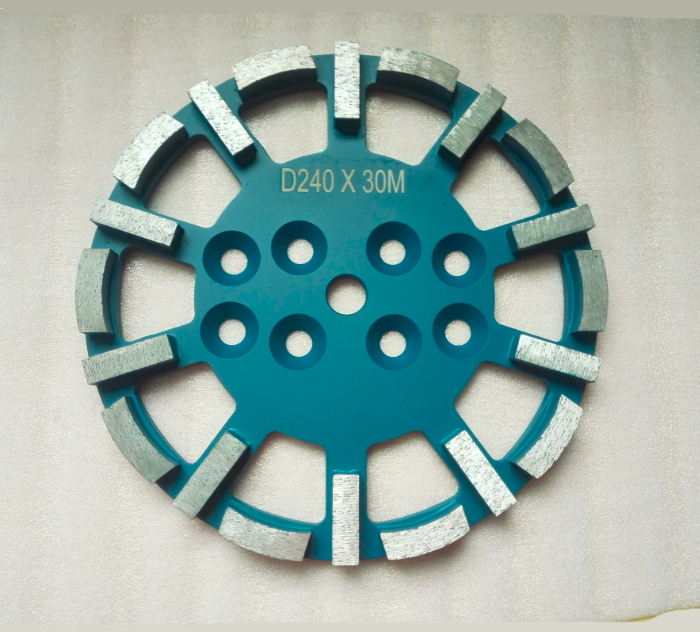 240mm Diamond Grinding Plate for grinding concrete, terrazzo and masonry surfaces