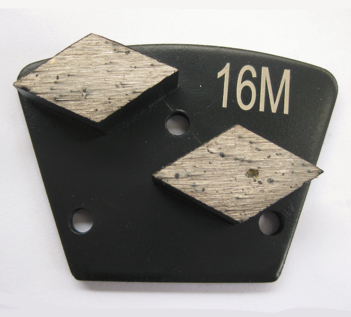 Bolt On Diamond Grinding Trapezoid Plate - Rhombus Diamond Segment