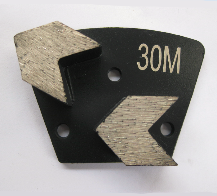 Diamond Grinding Trapezoid Plate Bolt On - Arrow Segment