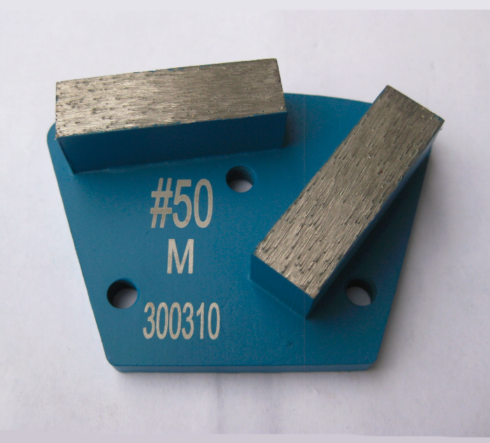 Diamond Grinding Trapezoid Plate Screwed On- Double Segment