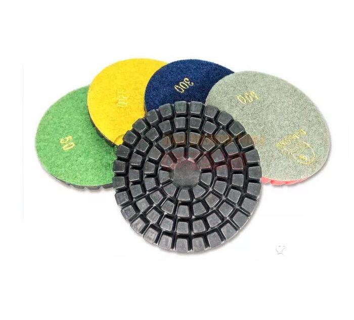 4 Inch economy wet concrete polishing pad