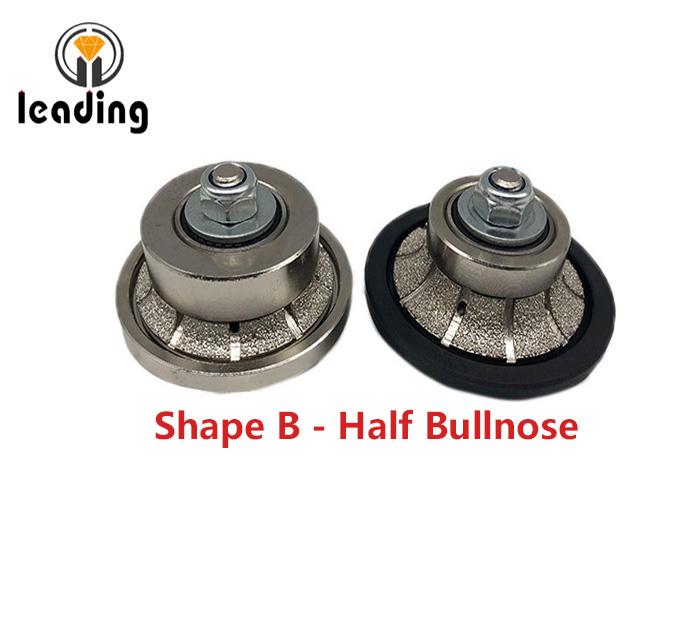 Shape B - Half Bullnose Vacuum Brazed Hand Profile Wheel
