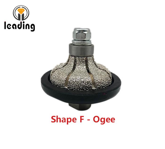 Shape F - Ogee Vacuum Brazed Hand Profile Wheel