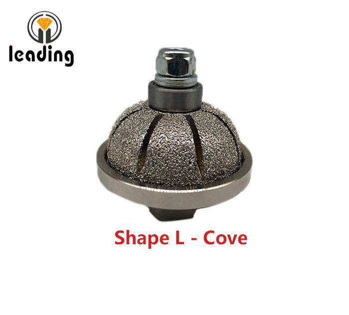 Shape L - Cove Vacuum Brazed Hand Profile Wheel