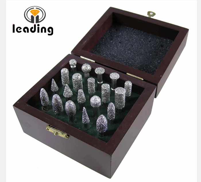 Vacuum Brazed Diamond Burs Set 20 pcs