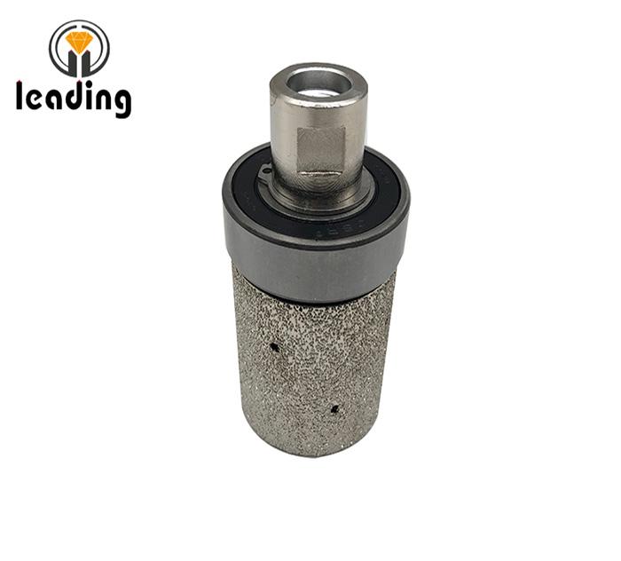 Vacuum Brazed Zero Tolerance Drum Wheel With Guide Bearing
