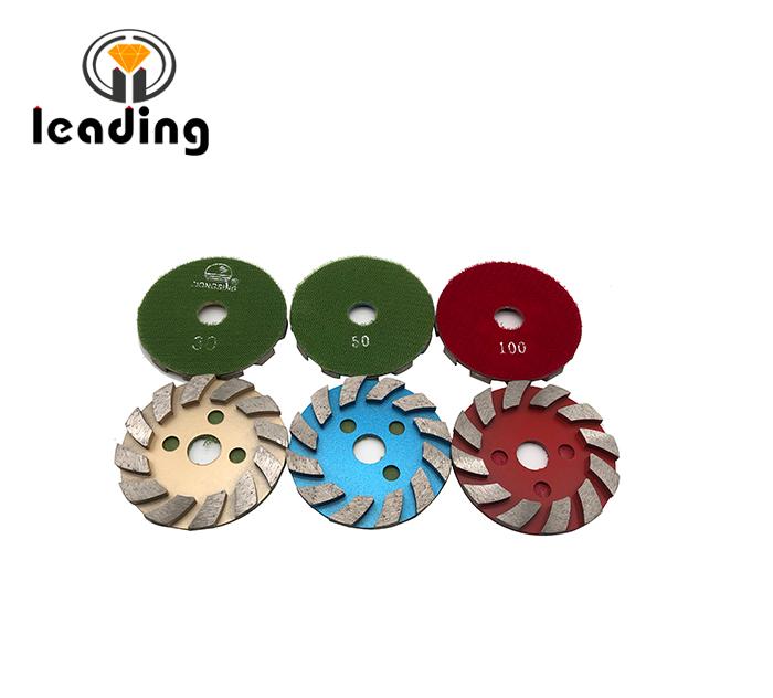4JKP - 4 Inch DONGSING Metal Floor Grinding Discs Velcro Backed