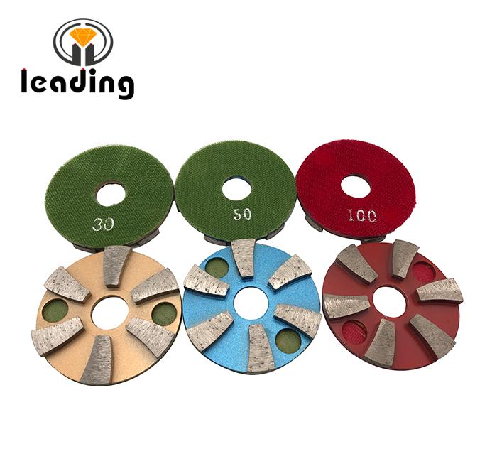 3JKP - 3 Inch DONGSING Metal Floor Grinding Discs Velcro Backed