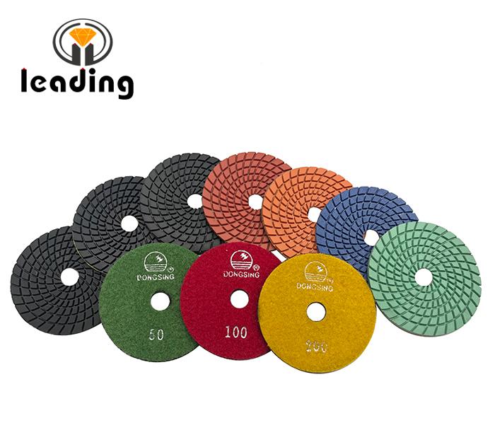 4DS2 - 4 Inch DONGSING Spiral Flexible Polishing Pads