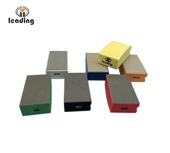 Diamond Hand Polishing Pads - Convex Back
