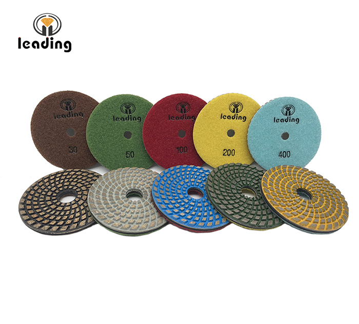 Spiral Metal Bond Flexible Diamond Polishing/Grinding Pads