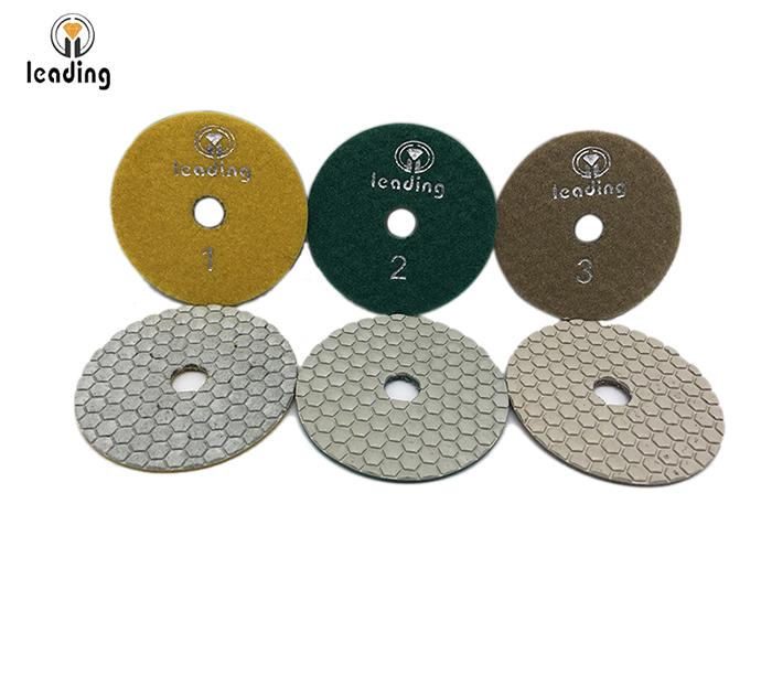 Leading 3 Step White Dry Diamond Polishing Pads GFS
