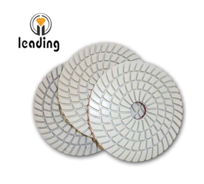 Leading 3-Step White Wet Diamond Polishing Pads