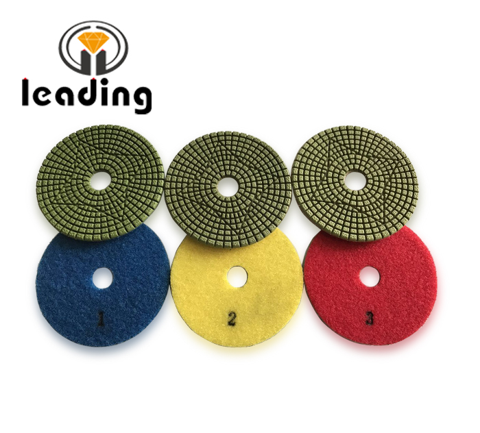 Leading Premium 3 Step Flexible Wet Diamond Polishing Pads For Granite and Marble