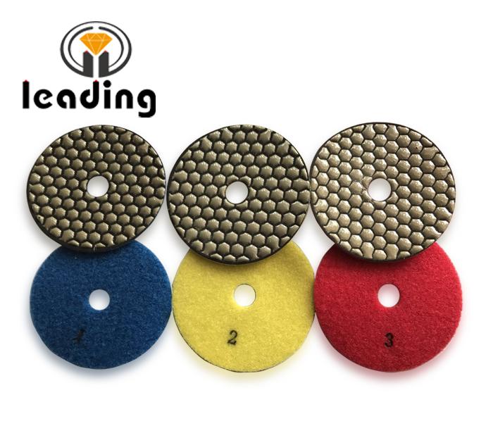 Leading 3 Step Dry Diamond Polishing Pads