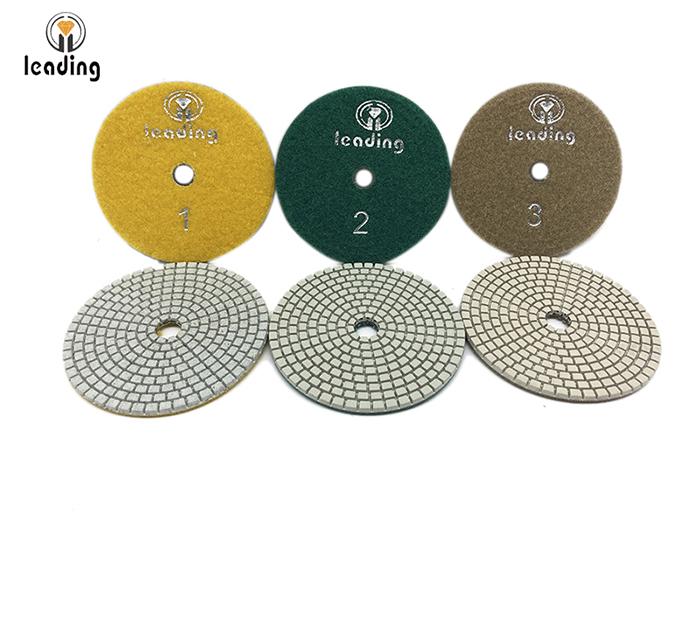 Leading 3 step White Dry/Wet Diamond Polishing Pads