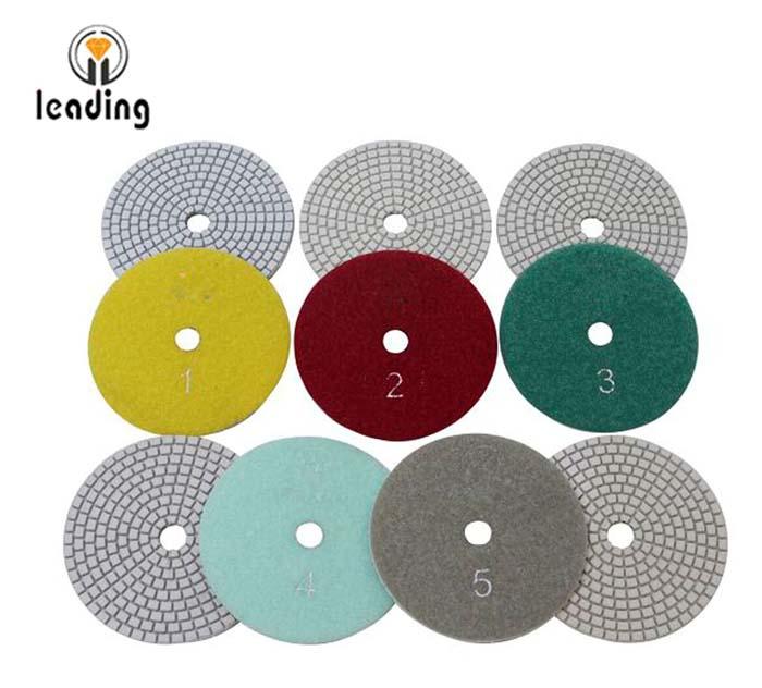 Leading 5 Step Flexible White Diamond Polishing Pads GFS