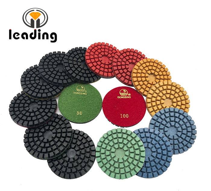 4 Inch DONGSING economy wet concrete polishing pad 4DS7