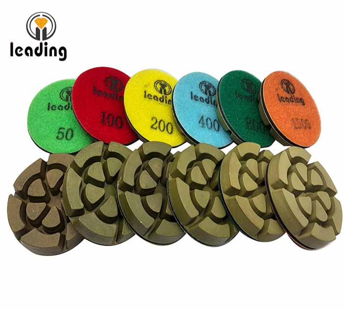 Green Resin Bond Concrete Polishing Pads - Turbine