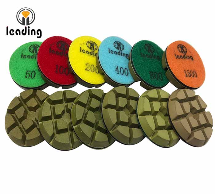 Green Resin Bond Concrete Polishing Pads - Typhoon