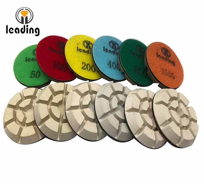 White Resin Bond Concrete Polishing Pads - Typhoon