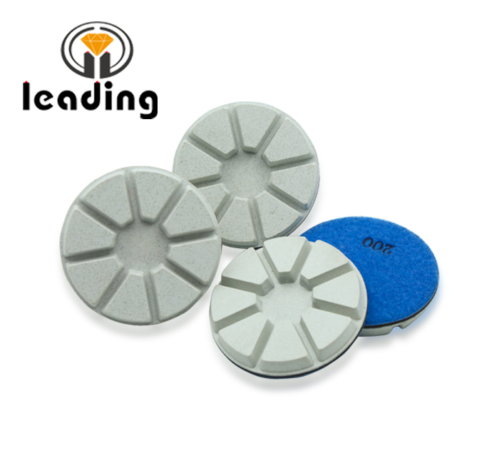 High concentration white concrete polishing pads-8 pies