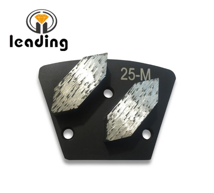 Long Hexagon Segment Diamond Grinding Trapezoid Plate Screwed On