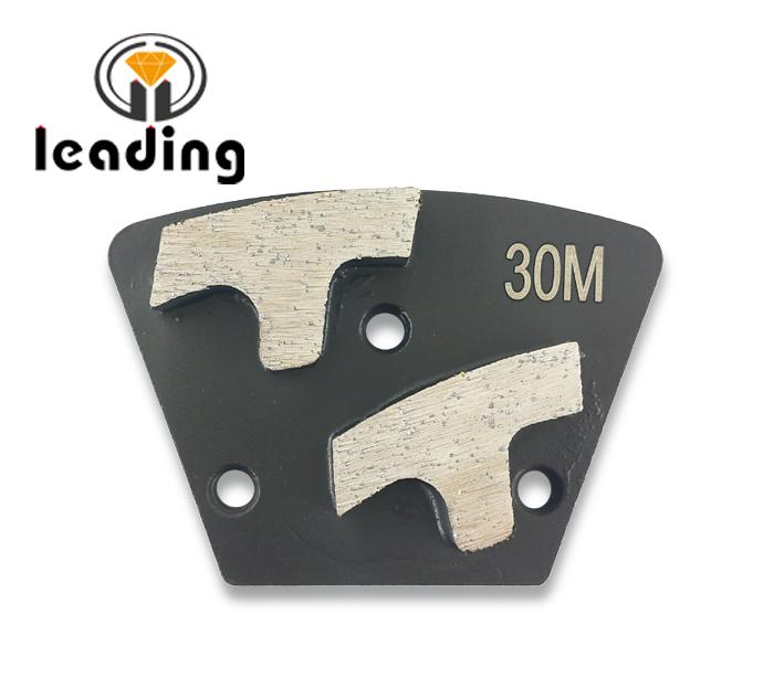 Double T Segment Diamond Grinding Trapezoid Plate Bolt On