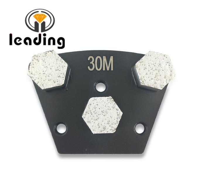 Three Hexagon Segments Diamond Grinding Shoes