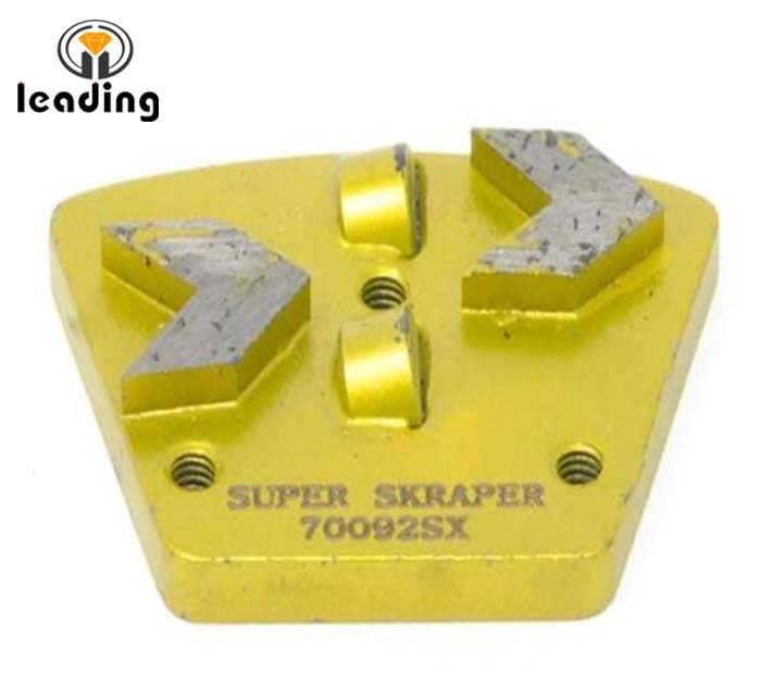 Coating Removal Tools - Half Round PCD scrapers / PCD wing / PCD grinding shoes / PCD Cutter