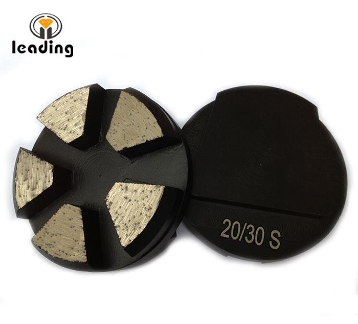 Fast Change Metal Bond Grinding Puck 5 Seg