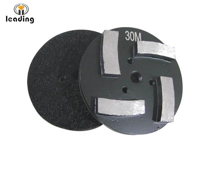 STONEKOR Diamond Tooling Concrete Polishing Diamonds 4 Segments Velcro backing