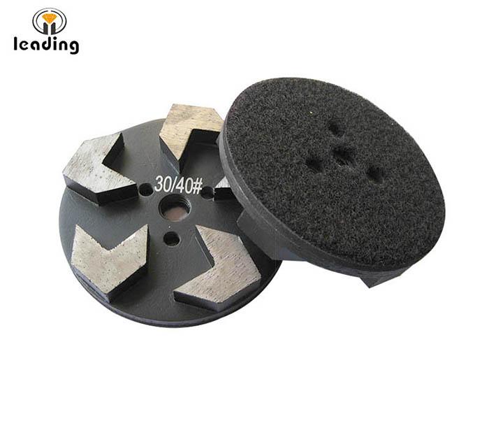 STONEKOR Diamond Tooling Concrete Polishing Diamonds 5 Arrow Segments Velcro backing