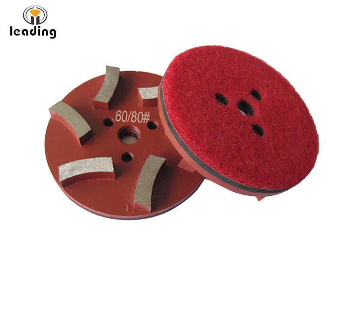 STONEKOR Velcro 3-Hole 3 inch 83mm 6 Seg Metal Grinding Puck