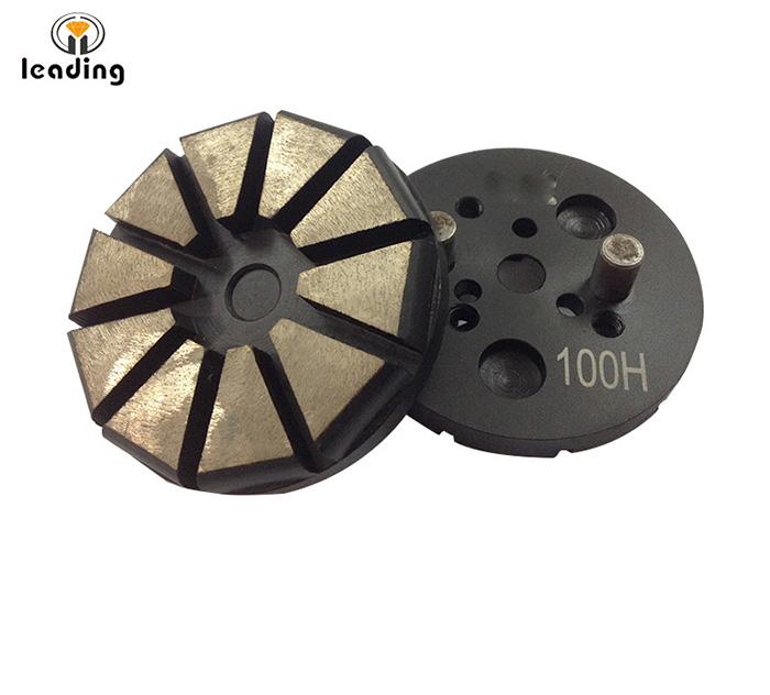 Universal Ten Straight Segment Diamond Grinding Puck Polar Magnetic