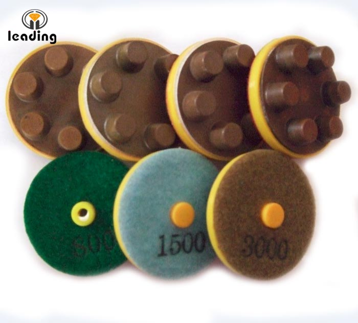 Six Finger Dry Concrete Polishing Pad without Plastic Frame