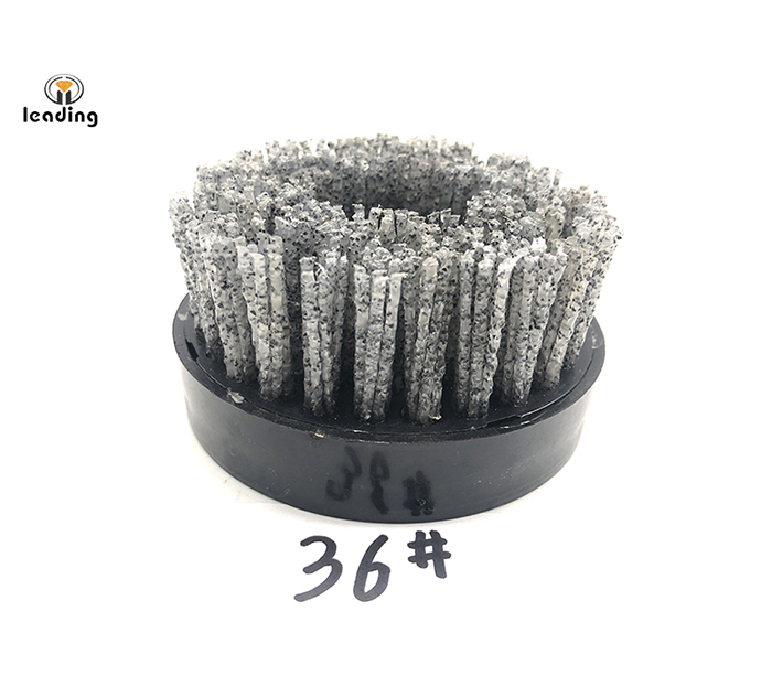 4 inch (100mm) Silicon Carbide Brush with M14 or 5/8
