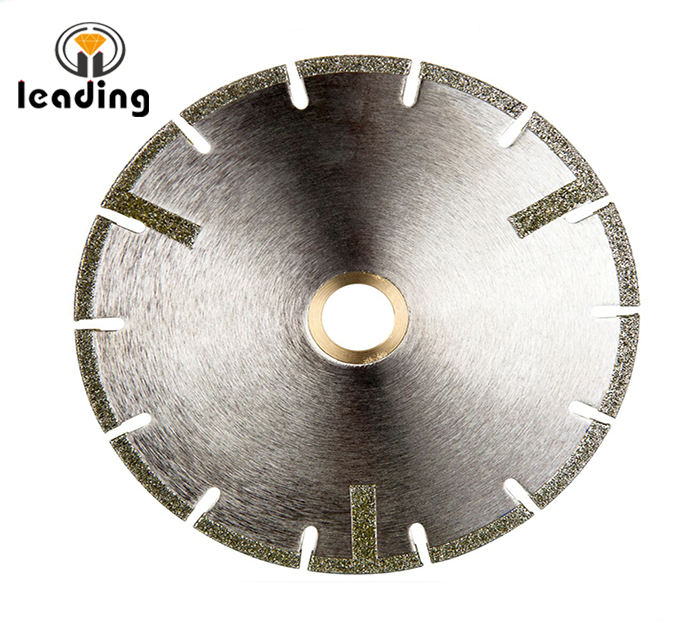 U-Slot Electroplated Blade with Side Protection Strips