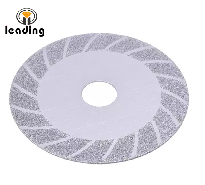 Zebra-stripe  Electroplated Saw Blade / Cutting Disc For Glass/Jade/Tile/Stone 100mm
