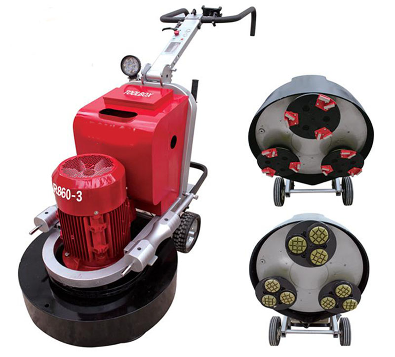 LDR860-3 Planetary Concrete Floor Grinder And Polisher WithThree Grinding Heads