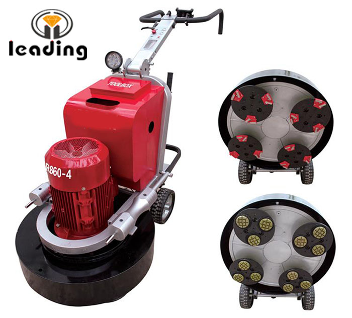 LDR860-4 Planetary Concrete Floor Grinder And Polisher With Four Grinding Heads