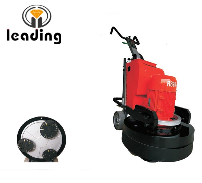 LDR890-3 Planetary Concrete Floor Grinder And Polisher WithThree Grinding Heads