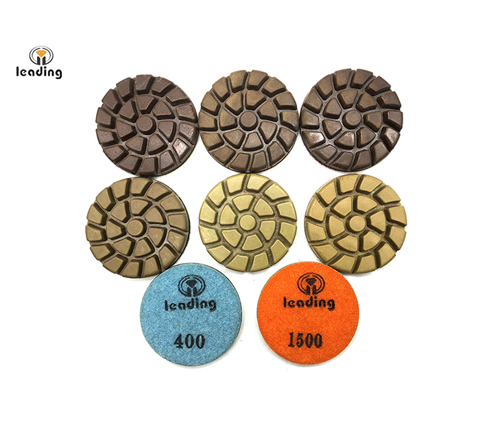 Spiral Concrete Floor Dry Resin Polishing Pad