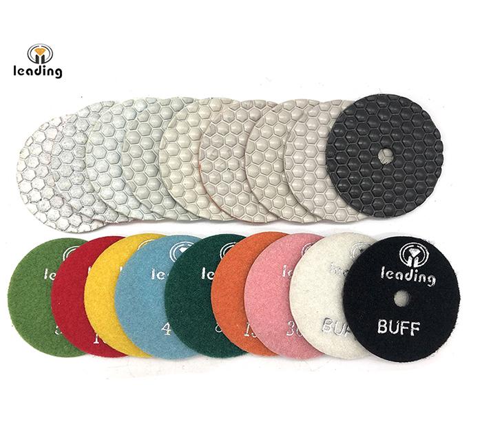 White Flexible Dry Diamond Polishing Pads