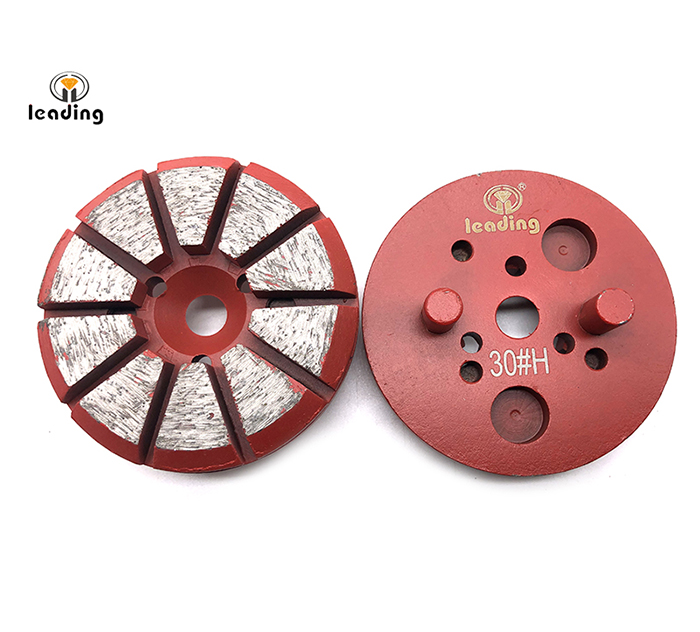 Multiple Mounted Diamond Grinding Puck With Two Pins