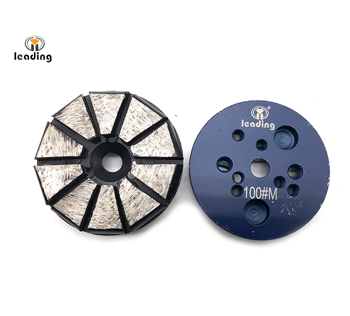 Multiple Mounted Diamond Grinding Puck Without Pins