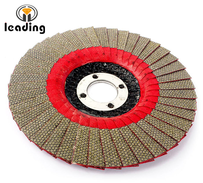 Electroplated Diamond Flap Discs for Shaping and Polishing Granite, Marble, Engineered Stone, Ceramic, Porcelain, Quartzite