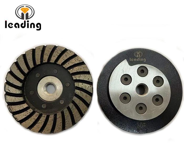 Turbo Diamond Cup Wheel with Aluminum Snail Lock