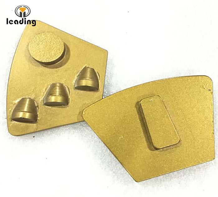 Husqvarna 3 PCD Single Round Supporter Diamond Grinding Trapezoid